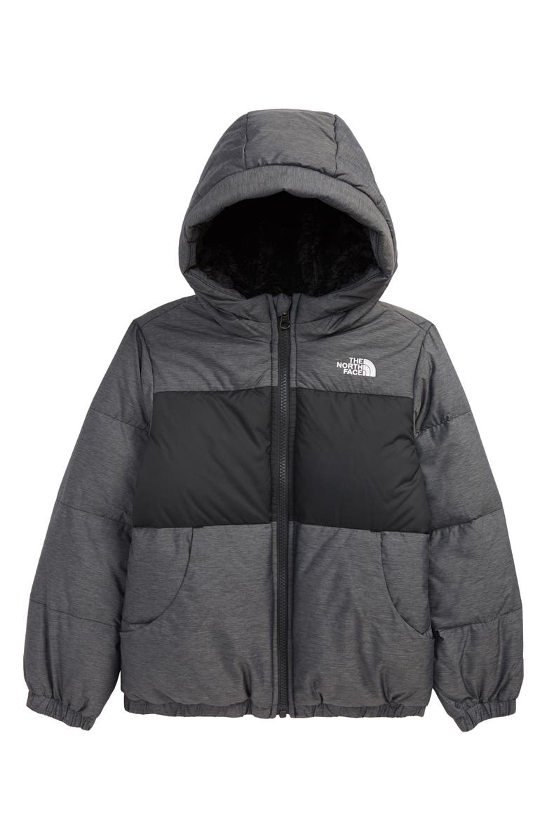 THE NORTH FACE Kids' Moondoggy Water Repellent Down Jacket, Main, color, TNF MEDIUM GREY HEATHER