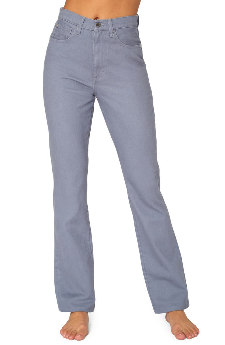 WE WORE WHAT Baby Bootcut Jeans, Main, color, GREY BLUE