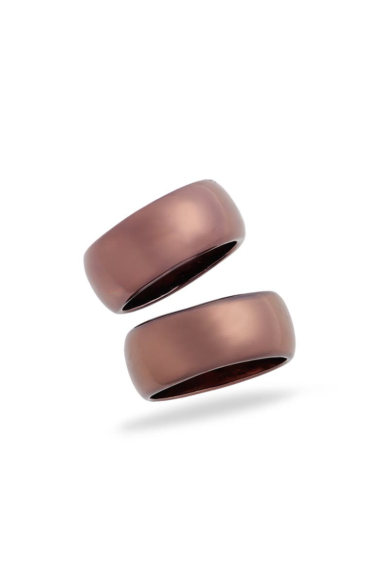 8 OTHER REASONS x Draya Michele Kelsey Ring Set, Main, color, CHOCOLATE GOLD