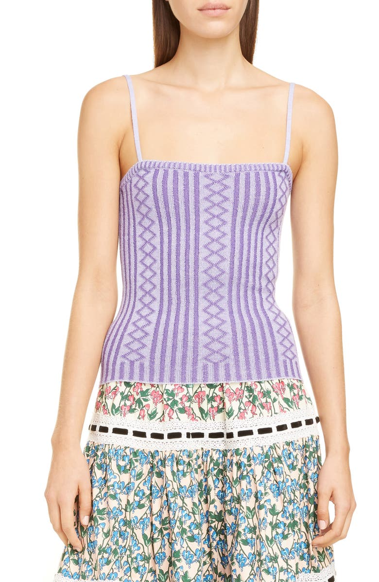 RUNWAY MARC JACOBS MARC JACOBS Rib Knit Wool Blend Cami, Main, color, 532