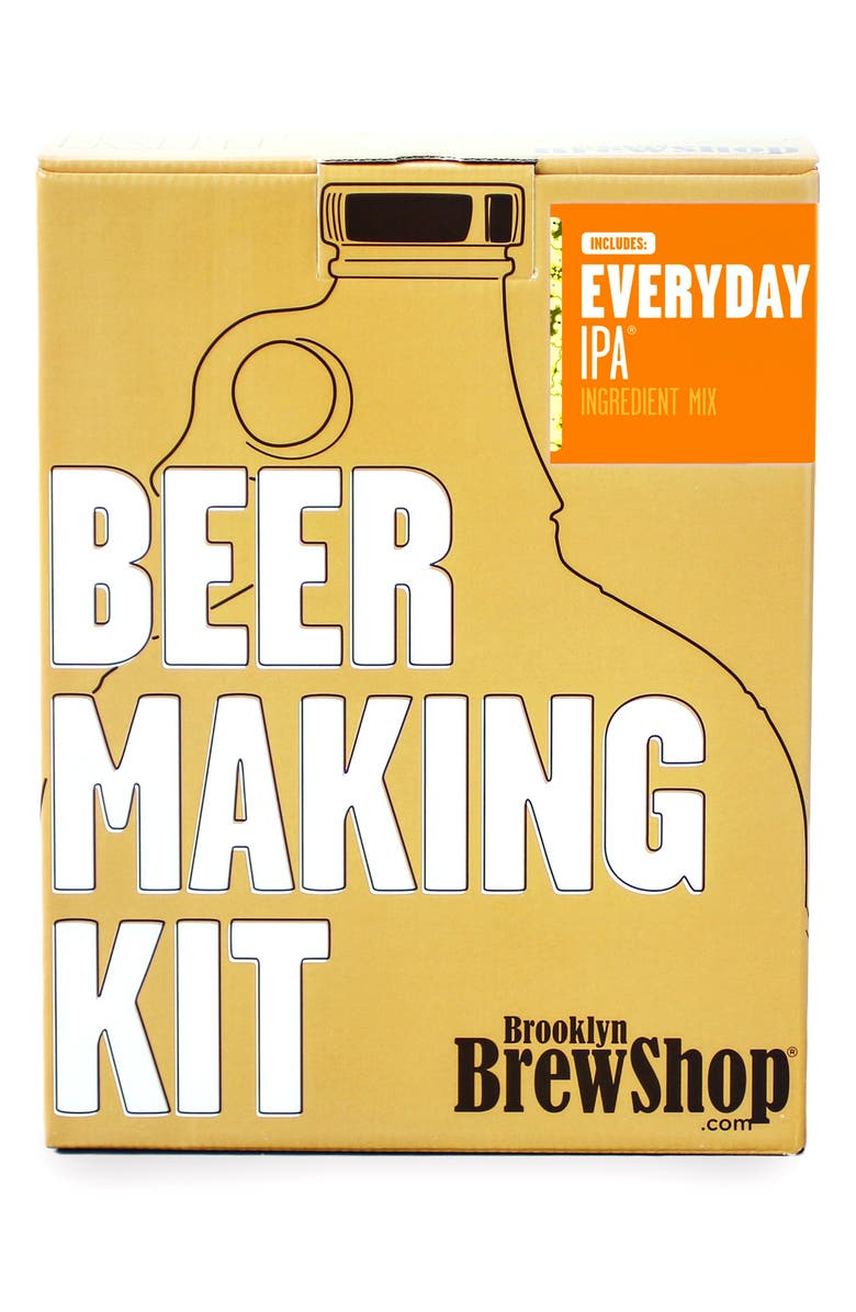BROOKLYN BREW SHOP 'Everyday IPA' One Gallon Beer Making Kit, Main, color, BROWN
