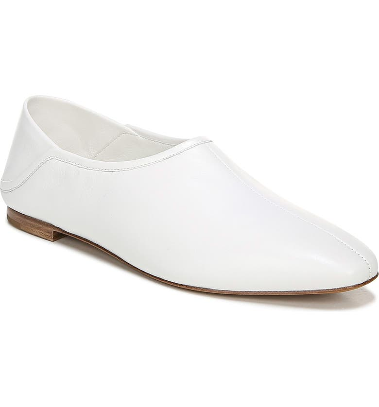 VINCE Branine Flat, Main, color, WHITE LEATHER