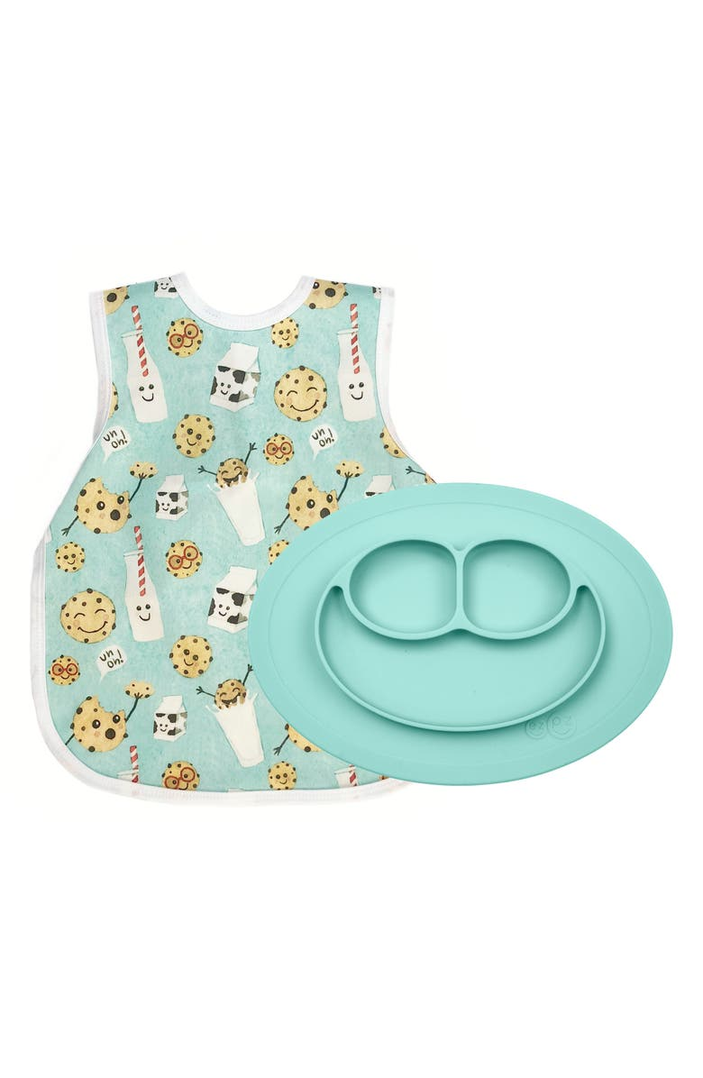 EZPZ Cookies Bapron & Mini Silicone Feeding Mat, Main, color, 440