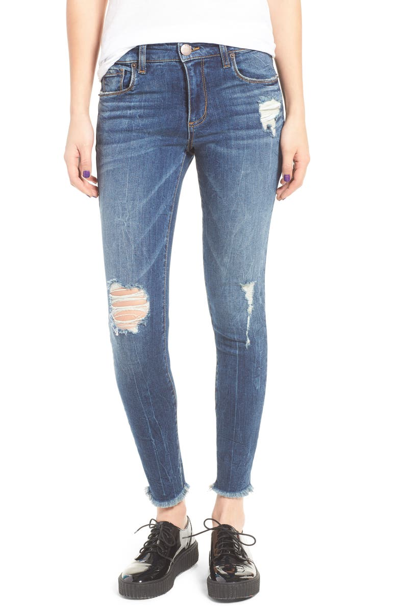 STS BLUE Emma Distressed Ankle Skinny Jeans, Main, color, 400