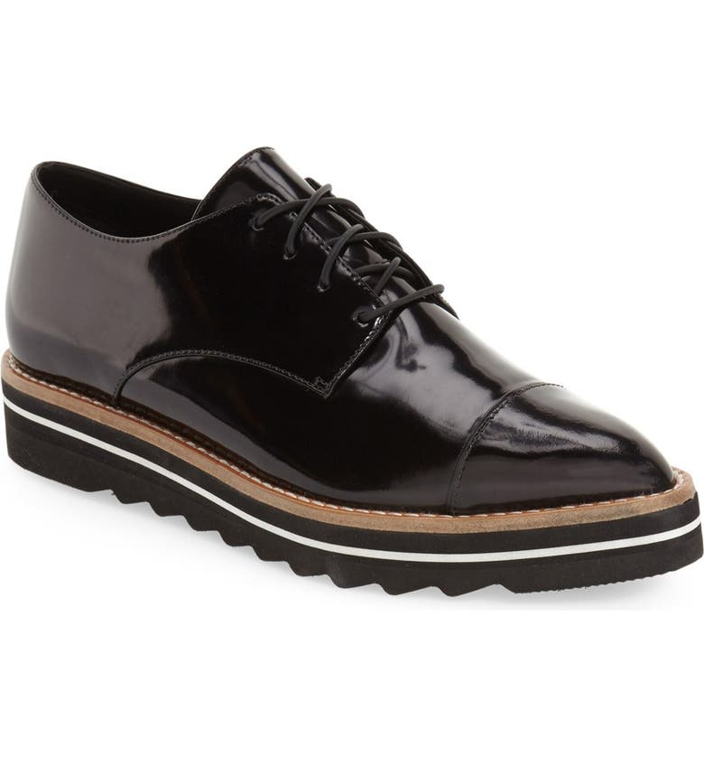 VINCE 'Alanis' Pointy Toe Oxford, Main, color, 002