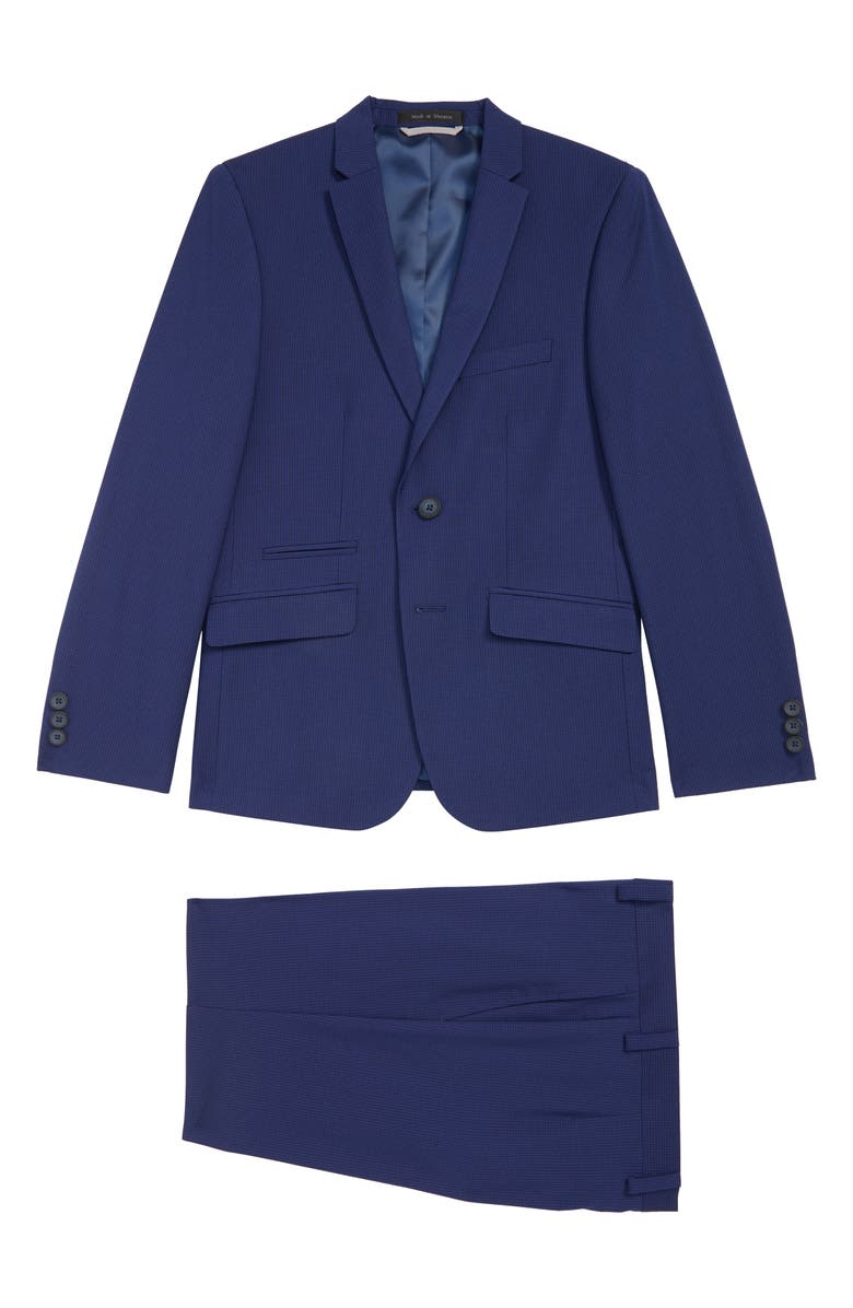 ANDREW MARC Mini Grid Nested Suit, Main, color, 400