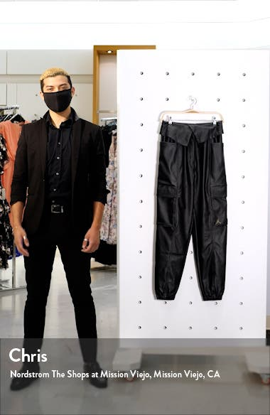 Court-to-Runway Faux Leather Utility Pants, sales video thumbnail