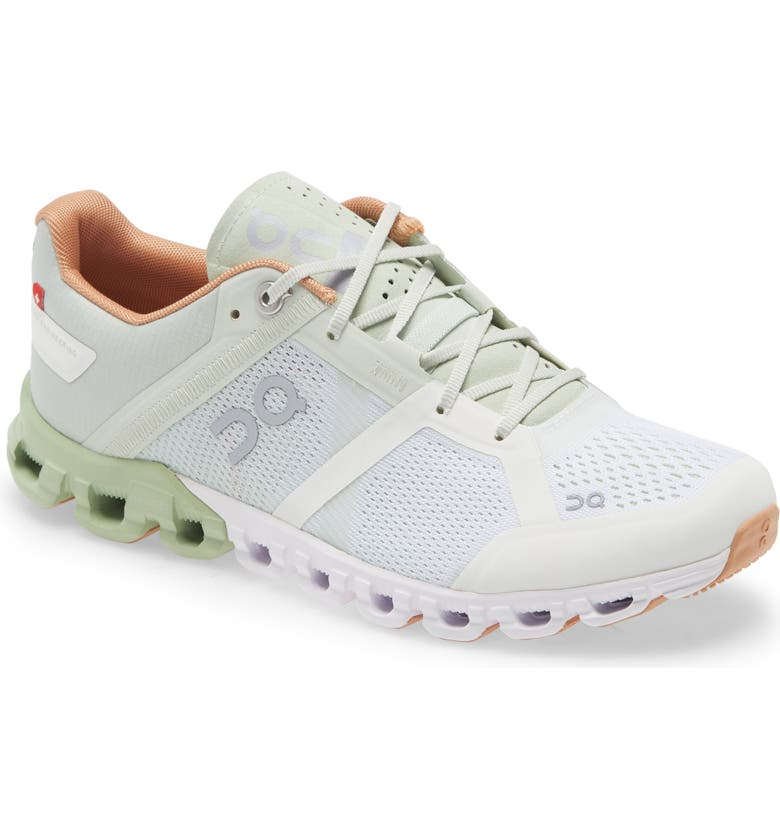 ON Shoes Cloudflow Running Shoe, Main, color, ALOE/ WHITE