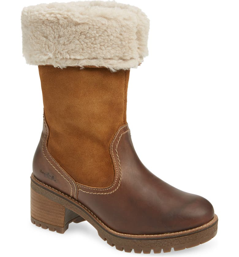 BOS. & CO. Motive Waterproof Boot, Main, color, CAMEL LEATHER