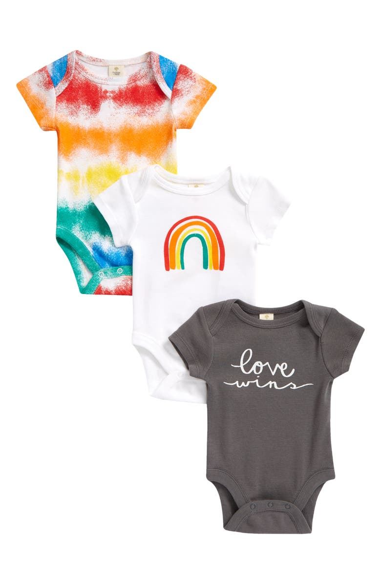 TUCKER + TATE Assorted 3-Pack Bodysuits, Main, color, PRIDE PACK