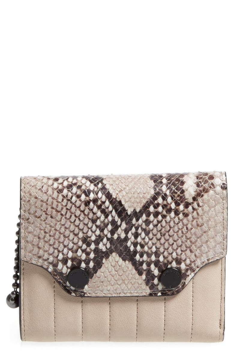 RAG & BONE Snake Pattern Moto Wallet, Main, color, 020