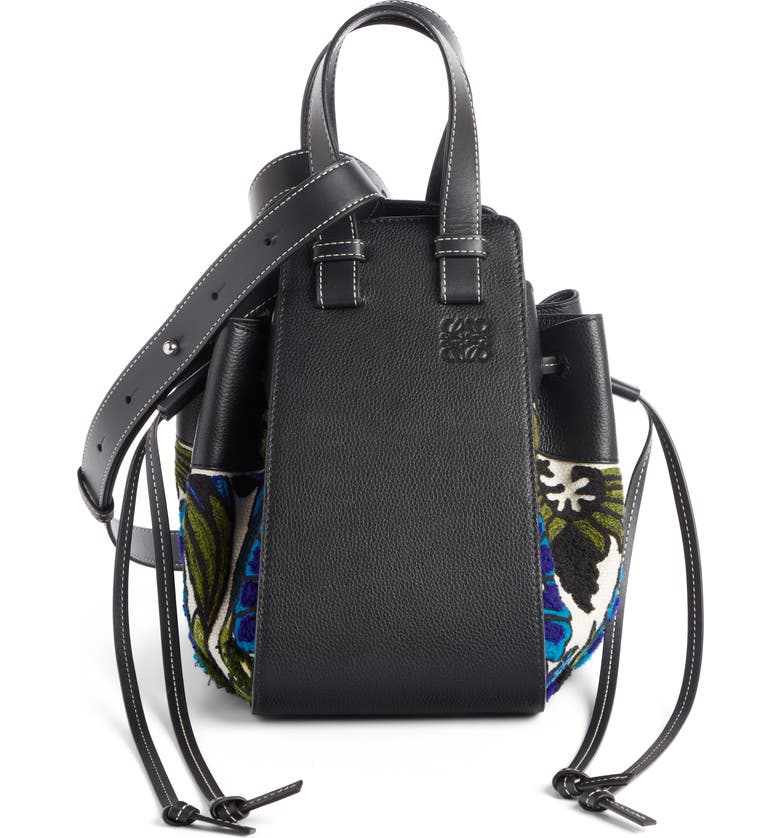 LOEWE Small Hammock Floral Leather Hobo Bag, Main, color, 400