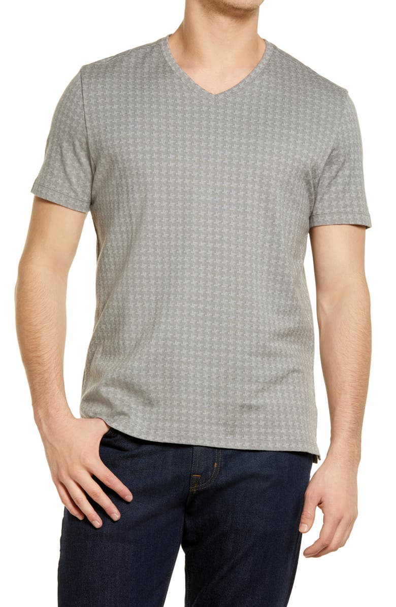 ROBERT BARAKETT Mendon V-Neck T-Shirt, Main, color, IRON