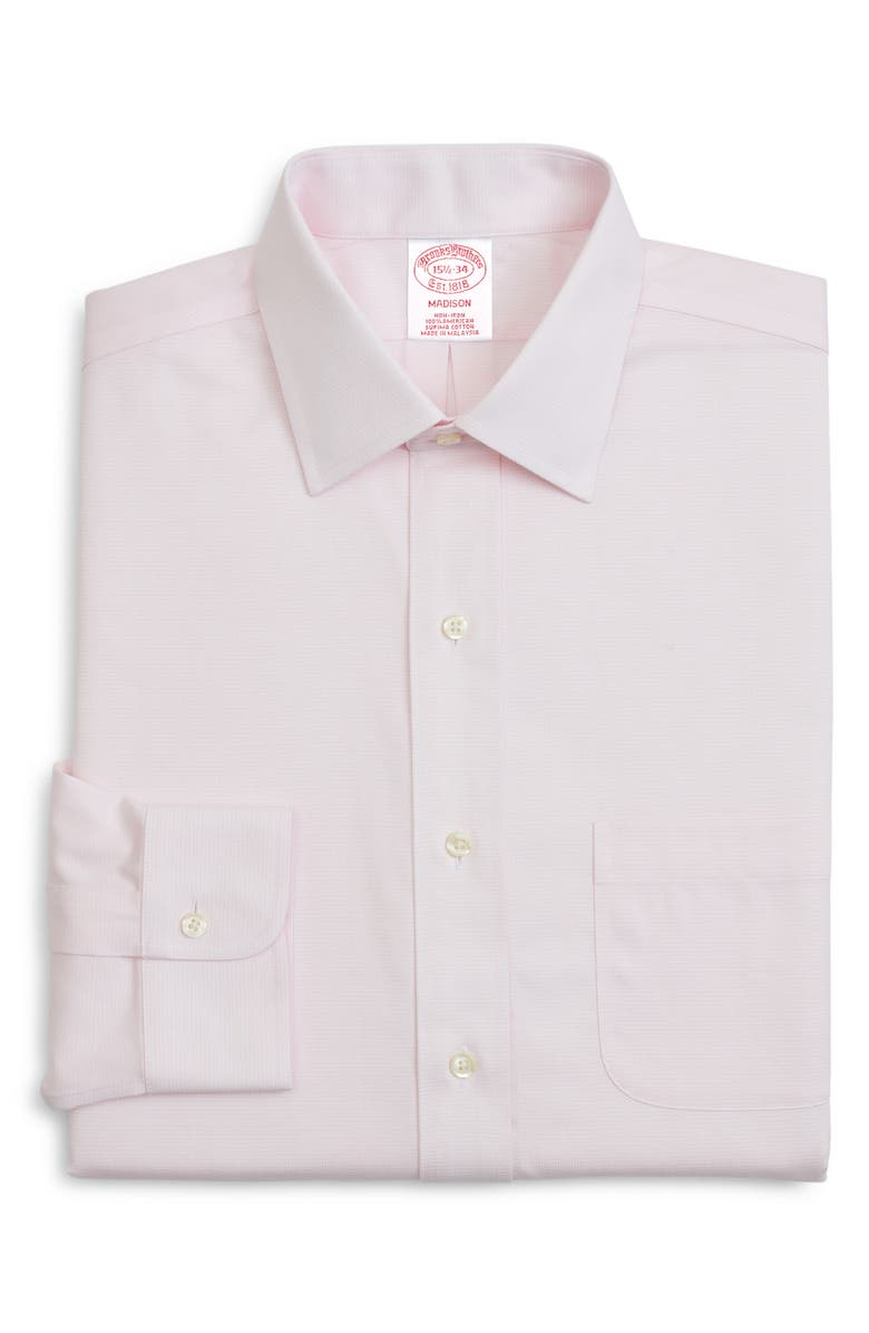 BROOKS BROTHERS Classic Fit Solid Dress Shirt, Main, color, 685