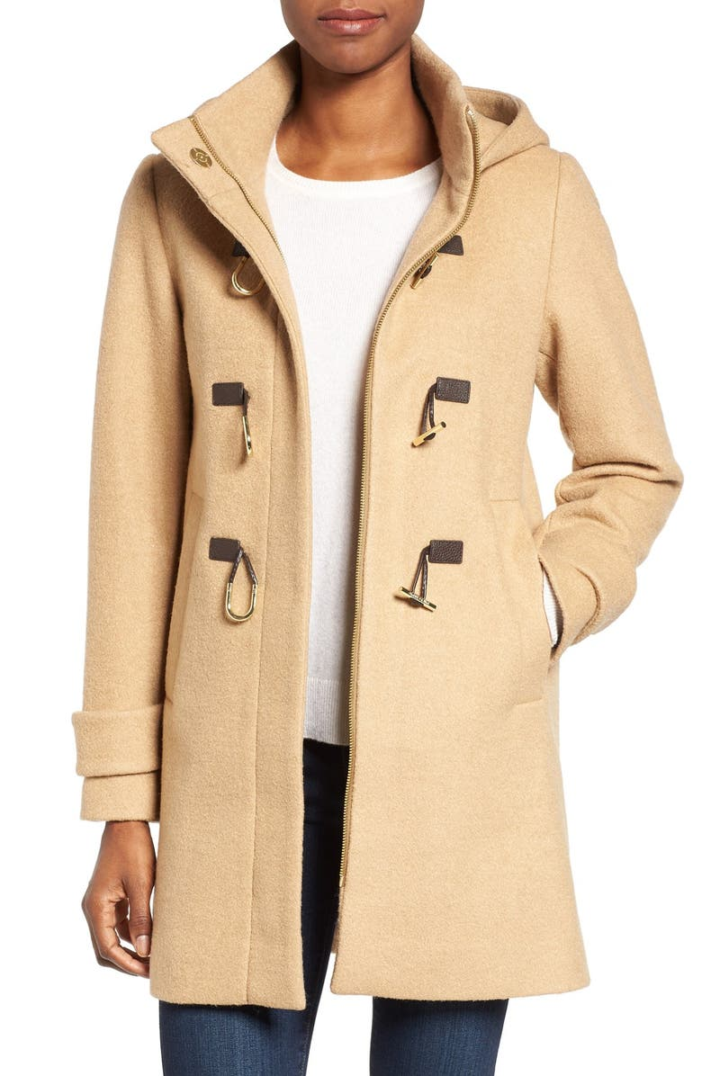 VINCE CAMUTO Boiled Wool Blend Duffle Coat, Main, color, 252