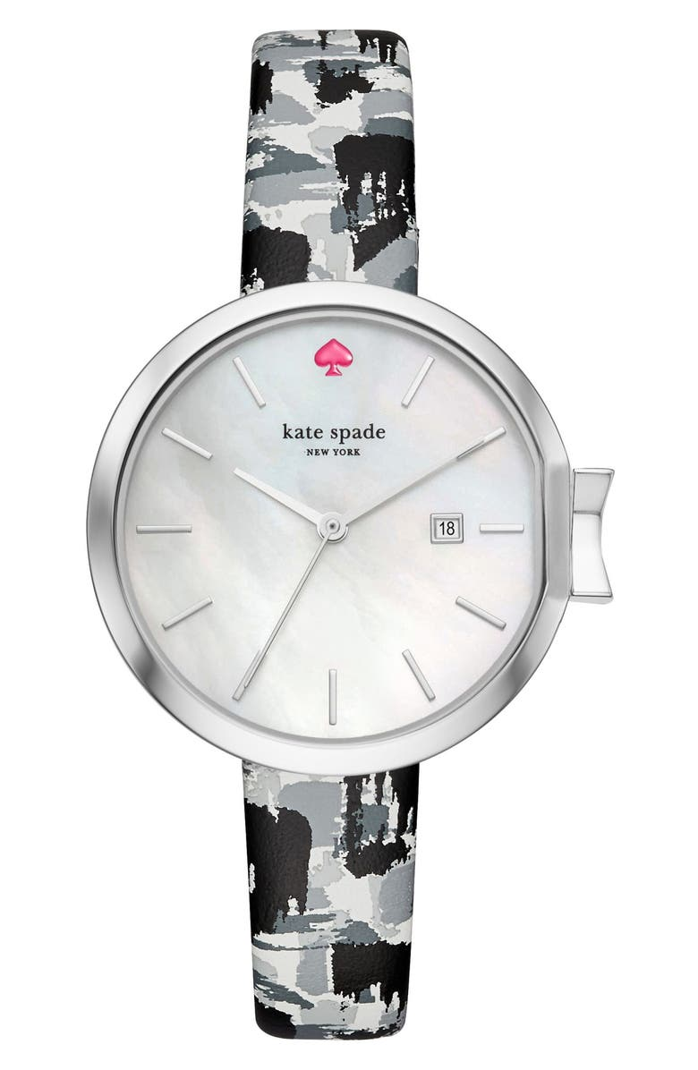 KATE SPADE NEW YORK park row bracelet watch, 34mm, Main, color, 001