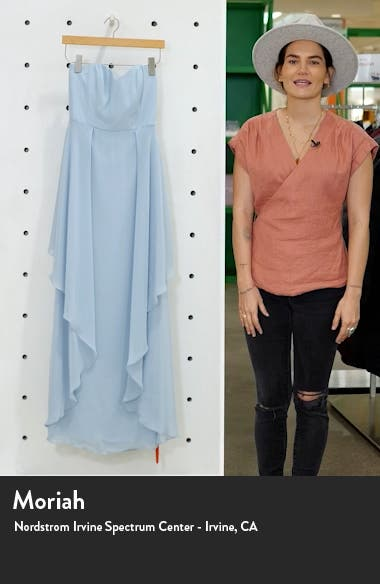 Strapless Sweetheart Neck Chiffon Gown, sales video thumbnail