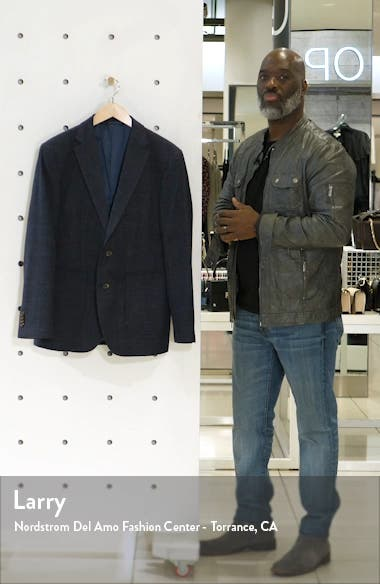 The Forks Regular Fit Check Wool & Cotton Sport Coat, sales video thumbnail