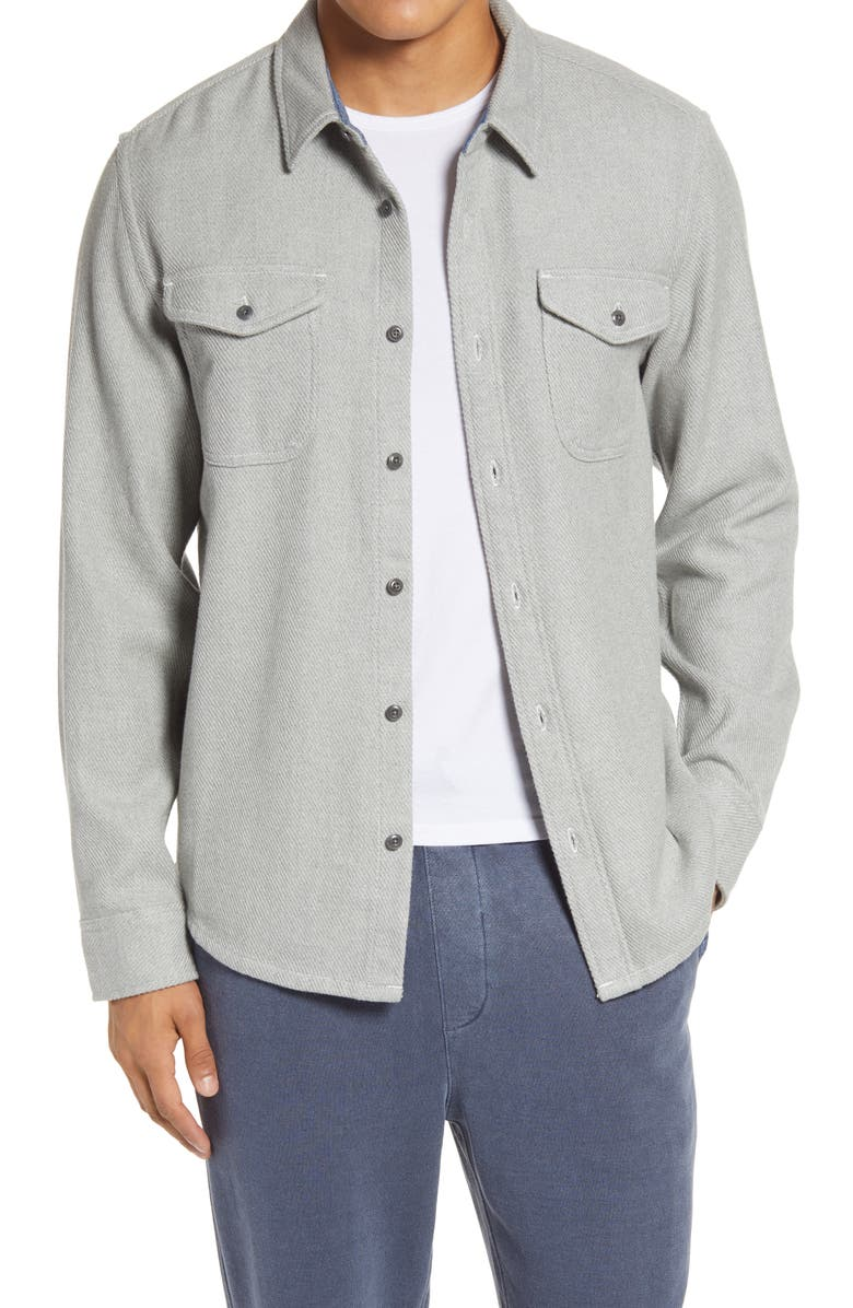 OUTERKNOWN Blanket Cotton Twill Button-Up Shirt, Main, color, 020