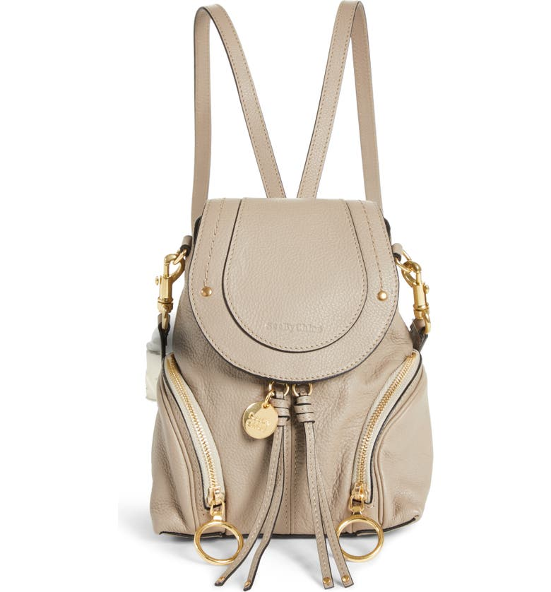 SEE BY CHLOÉ Small Olga Leather Backpack, Main, color, 020
