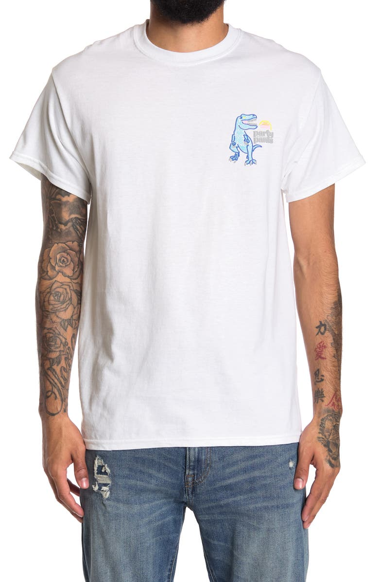PARTY PANTS Stay Wild Short Sleeve T-Shirt, Main, color, WHITE