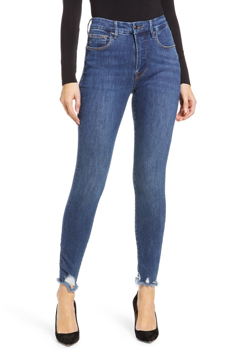 GOOD AMERICAN Good Legs Crop Skinny Jeans, Main, color, BLUE