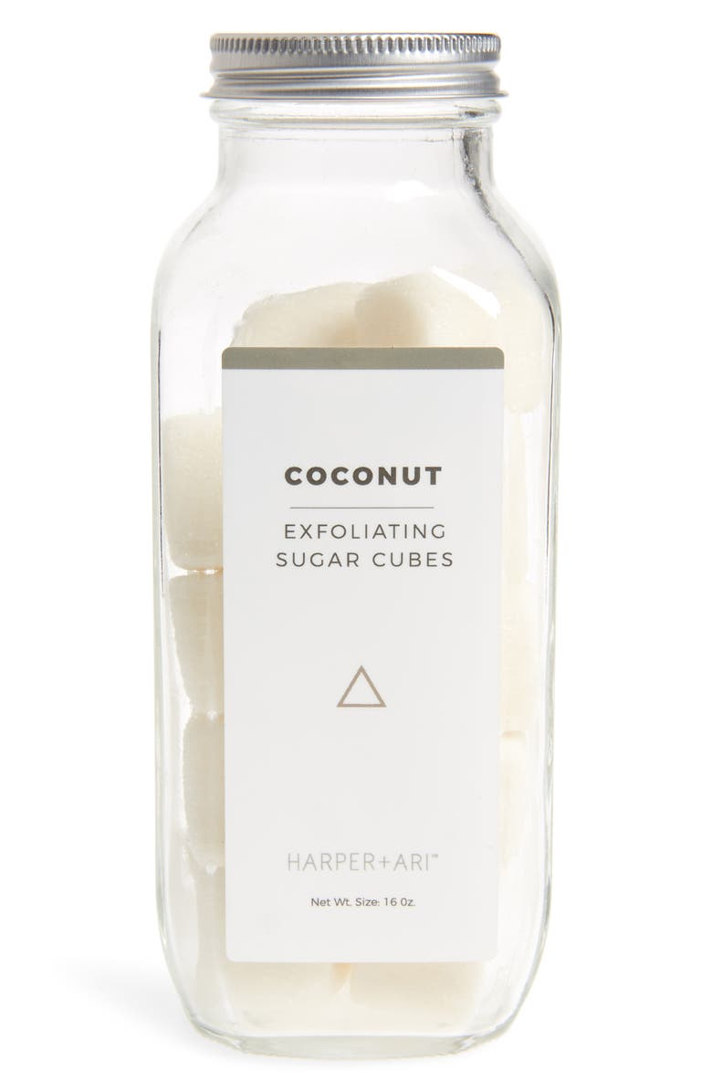 HARPER + ARI Coconut Exfoliating Sugar Cubes, Main, color, 100