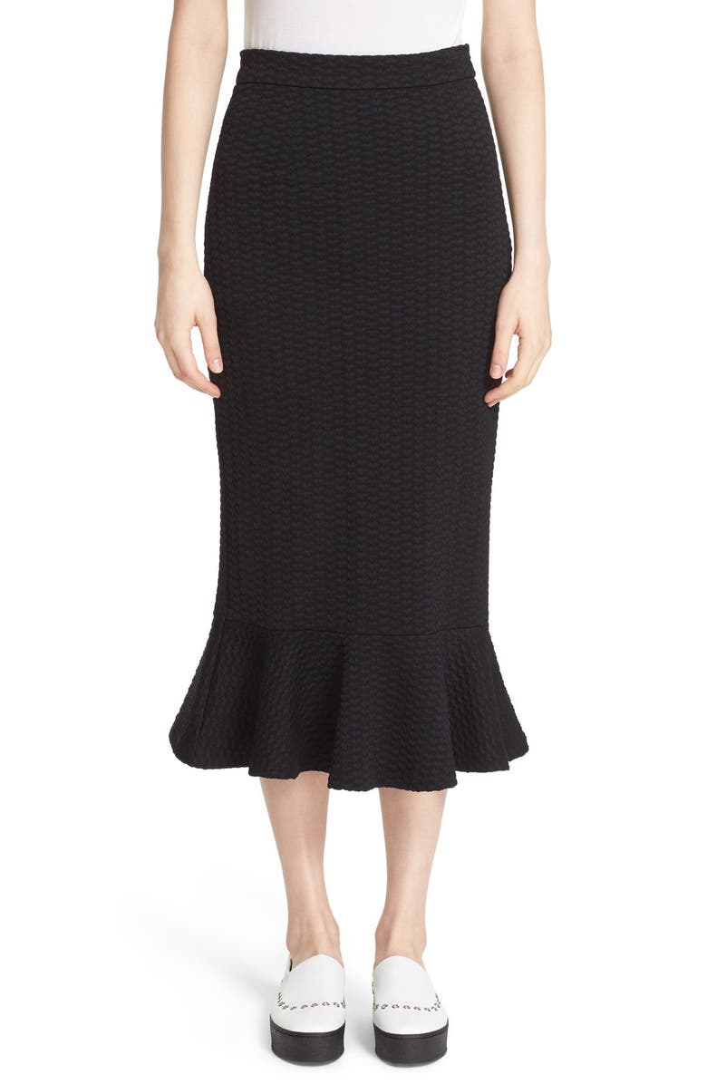 OPENING CEREMONY Textured Midi Skirt, Main, color, 001