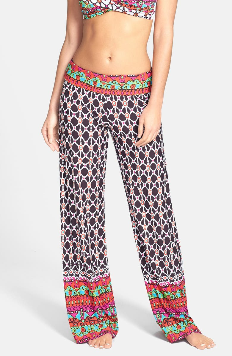TRINA TURK Foldover Cover-Up Pants, Main, color, 211