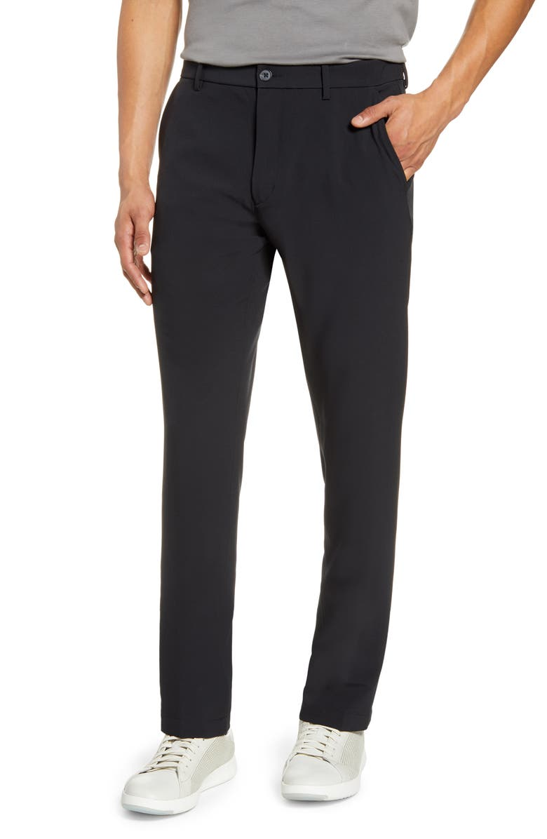 NORDSTROM Men's Shop Performance Flat Front Stretch Chino Pants, Main, color, 001