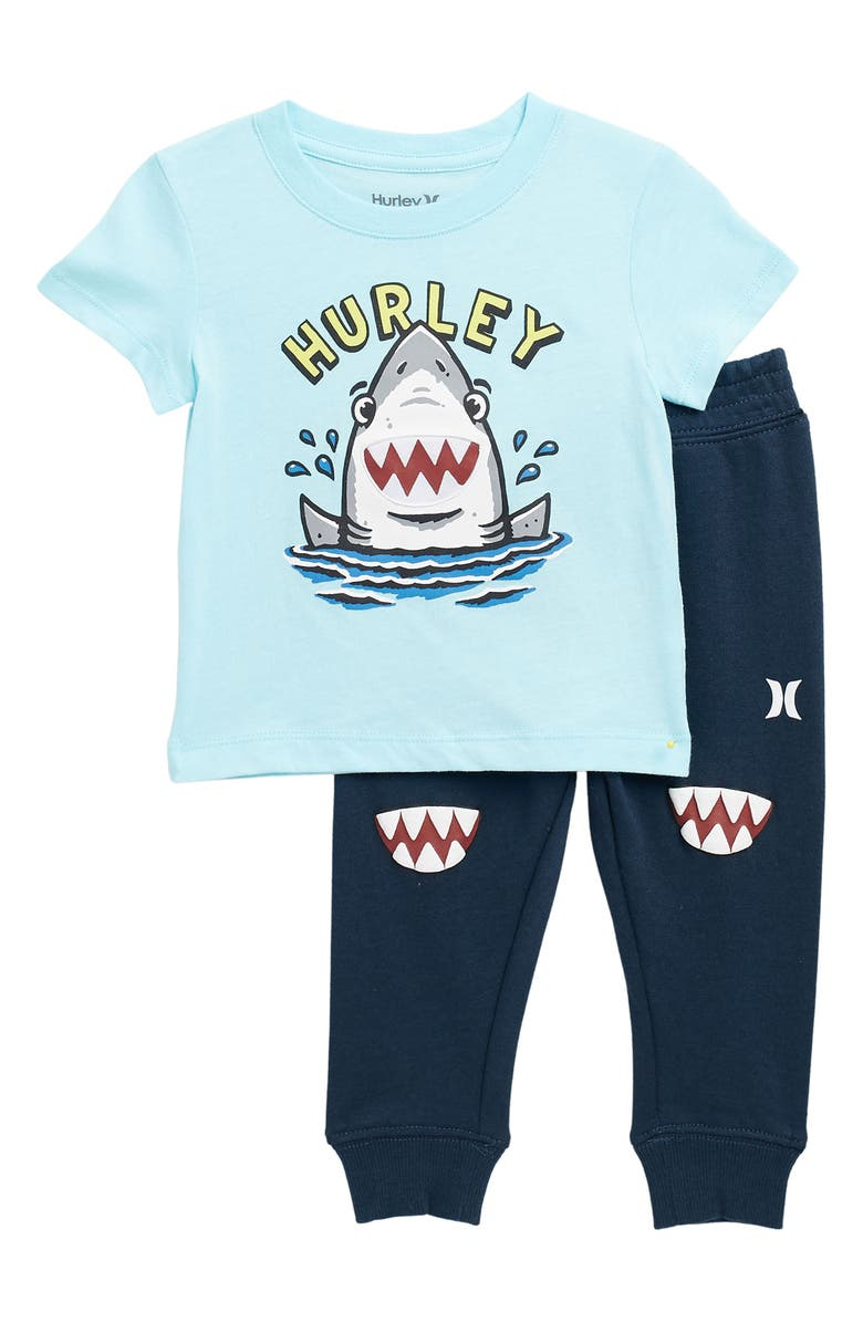 HURLEY Little Monsters Knit Set, Main, color, COPA