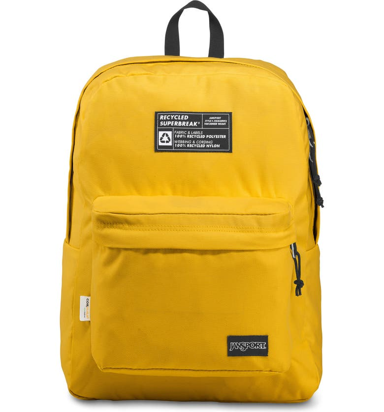 JANSPORT Recycled Superbreak Backpack, Main, color, YELLOW CARD