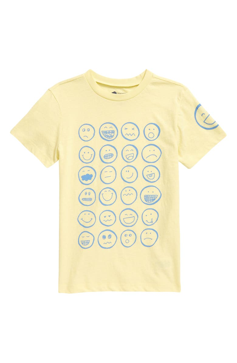 TUCKER + TATE Kids' Graphic Tee, Main, color, YELLOW LEMONADE HEATHER FACES
