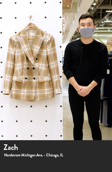 Cameron Double Breasted Check Wool Jacket, sales video thumbnail