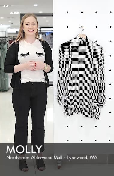 Ruched Sleeve Cardigan, sales video thumbnail