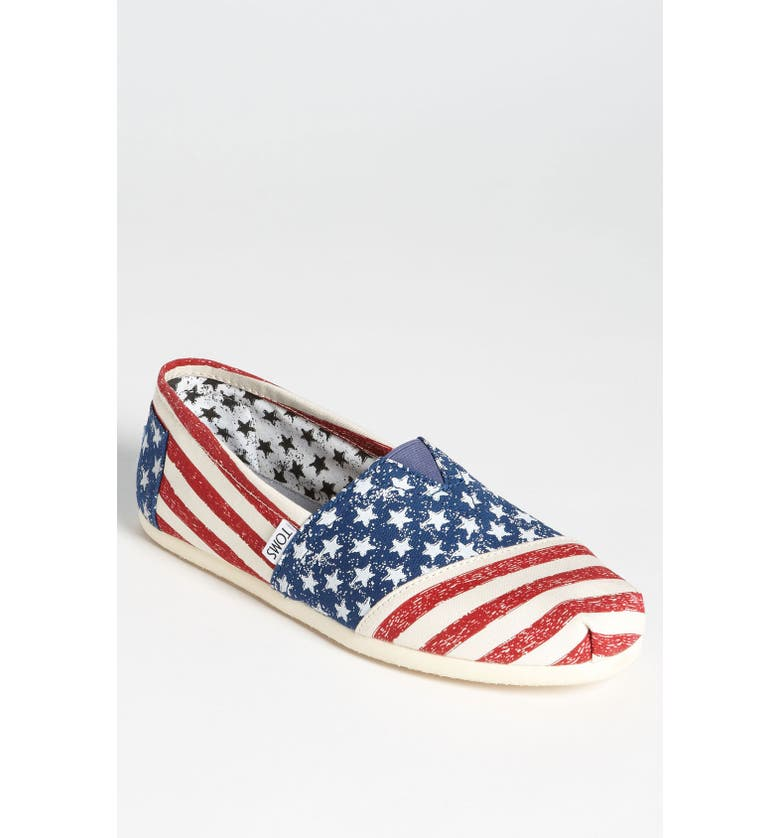 TOMS 'Earthwise - Classic' Slip-On, Main, color, BLUE/ STARS