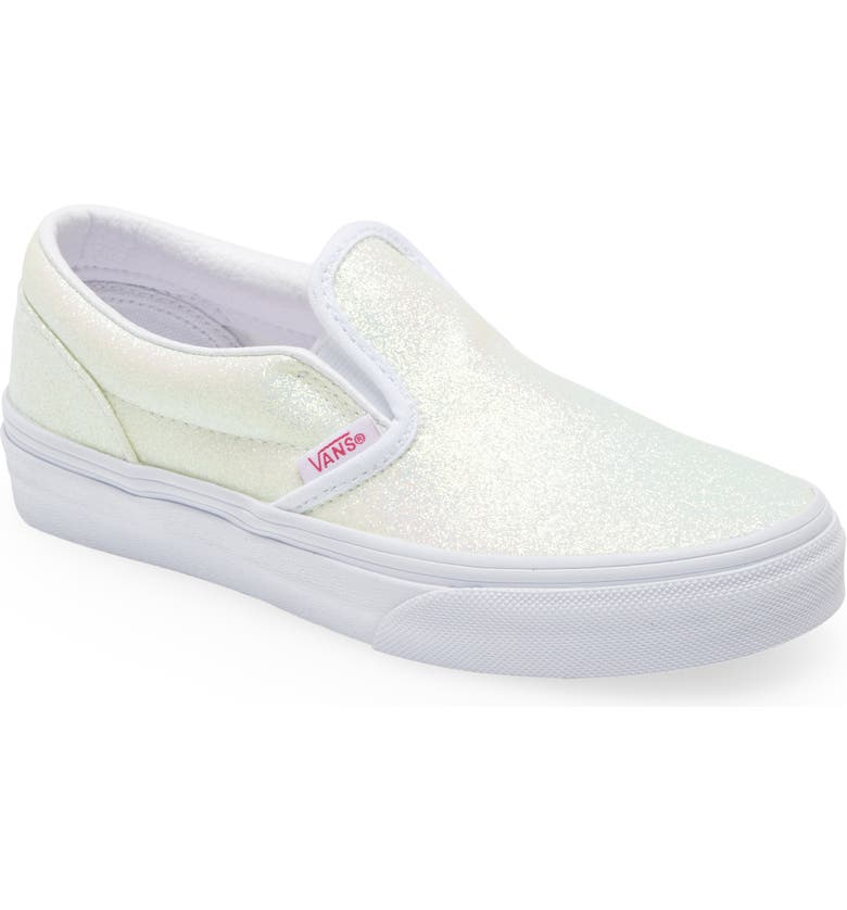VANS Classic Slip-On Sneaker, Main, color, UV GLITTER PINK/ TRUE WHITE