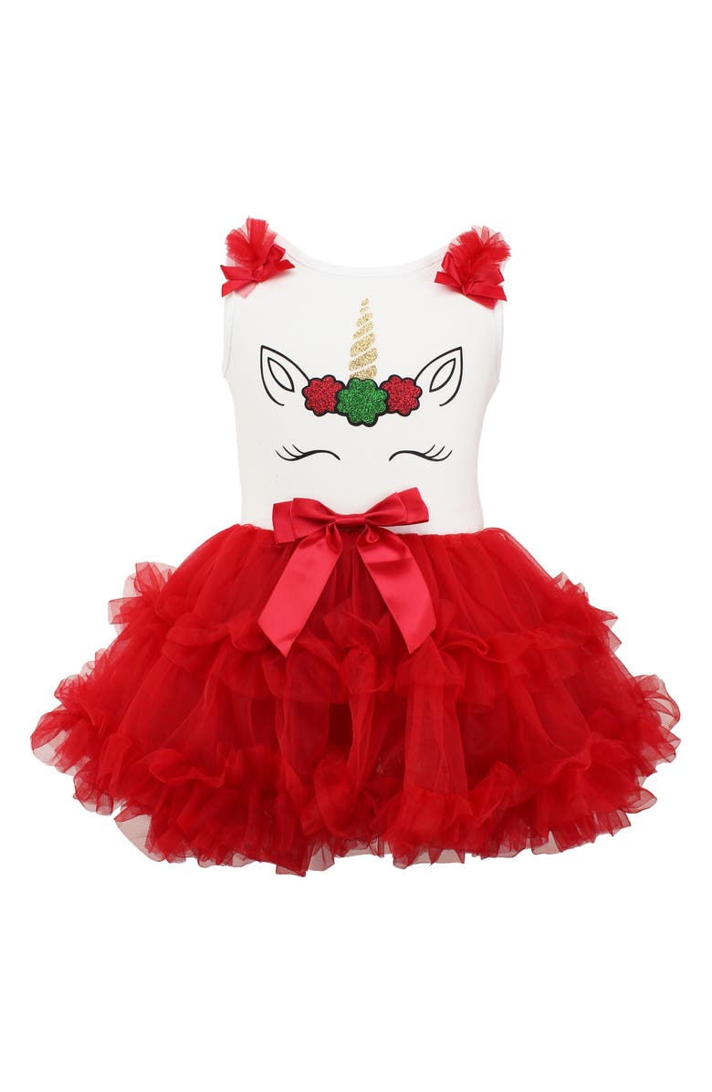 POPATU Christmas Unicorn Tutu Dress, Main, color, 630