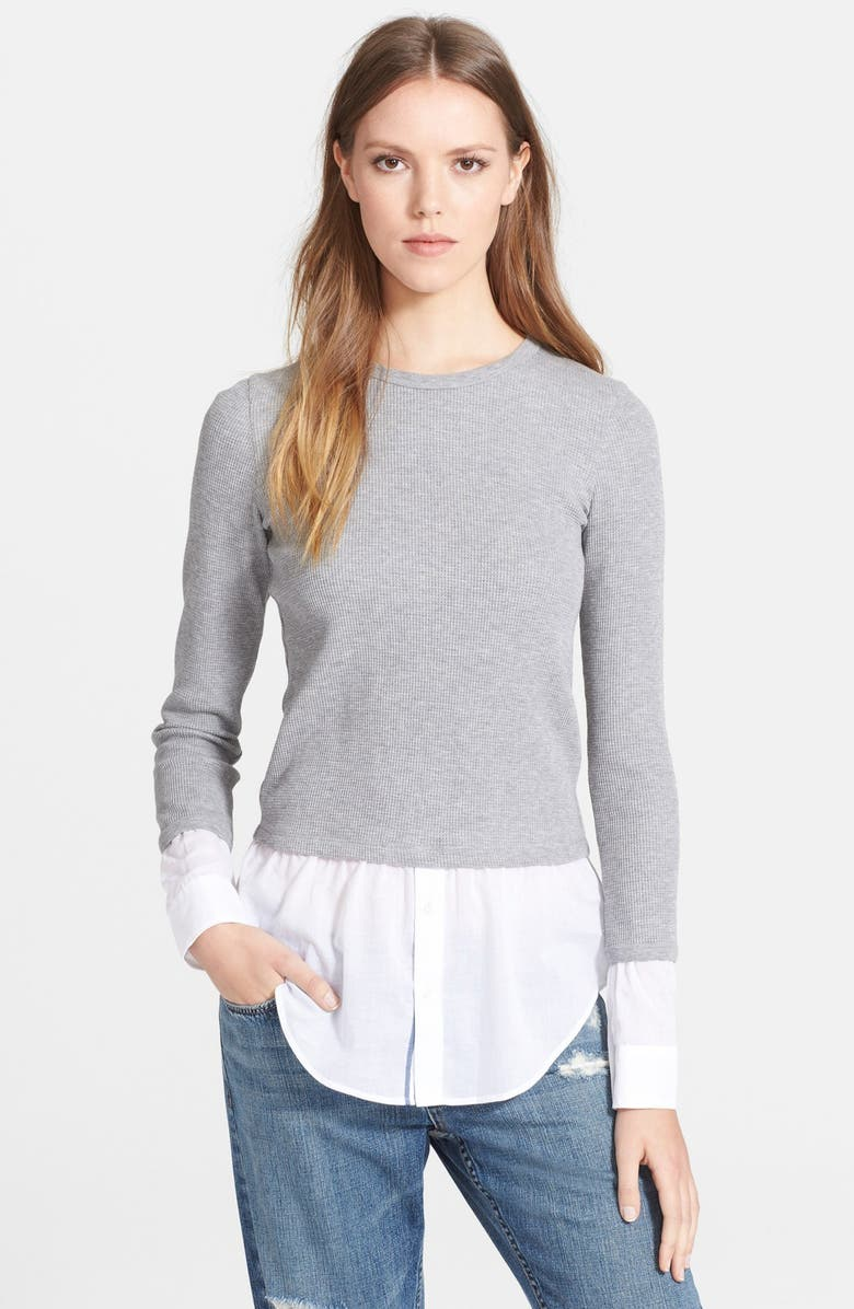 THEORY 'Mikaela' Layered Thermal Top, Main, color, 097