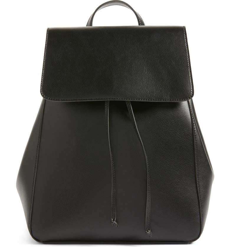 SOLE SOCIETY Ivan Faux Leather Backpack, Main, color, 001