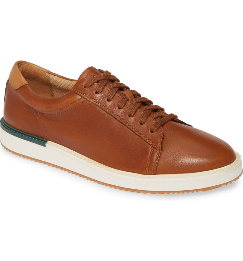 HUSH PUPPIES<SUP>®</SUP> Heath Sneaker, Main, color, COGNAC LEATHER