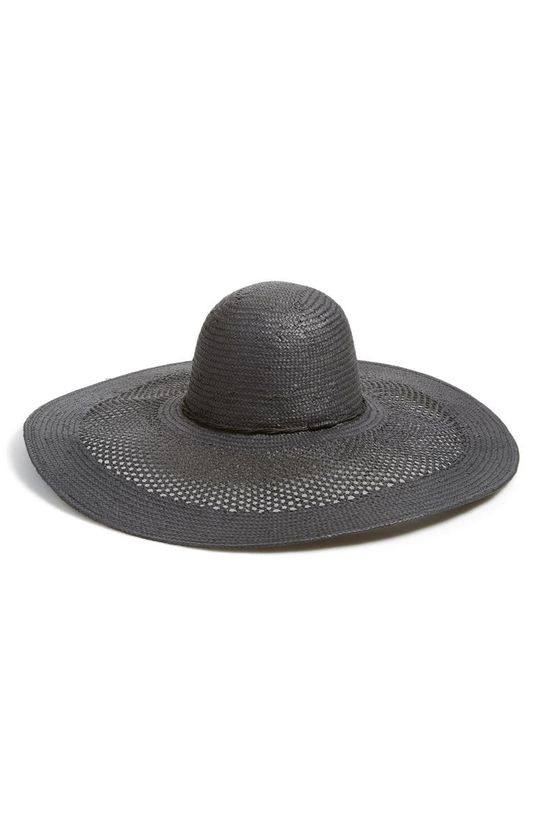 PHASE 3 Open Weave Floppy Straw Hat, Main, color, 001