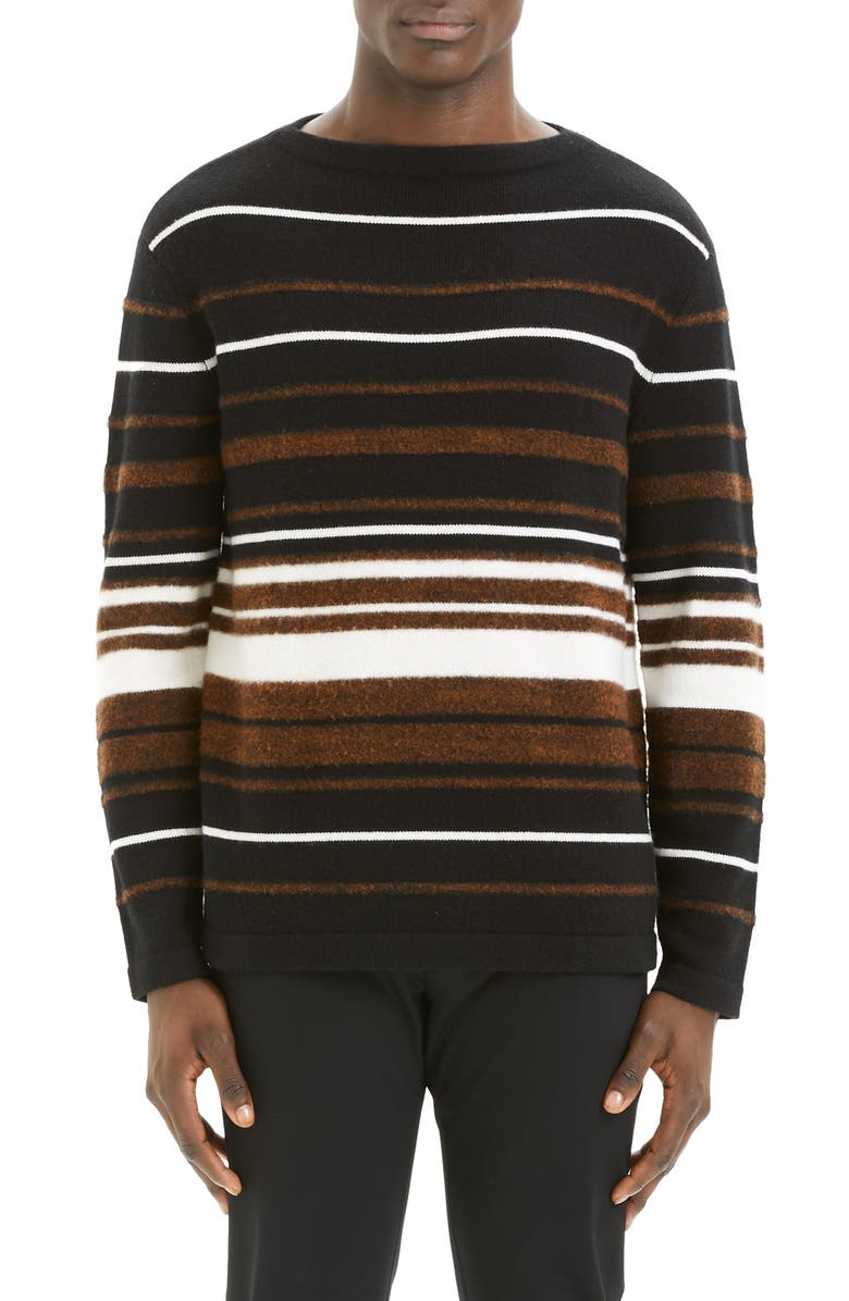 THEORY Hilles Stripe Regular Fit Cashmere Sweater, Main, color, 200