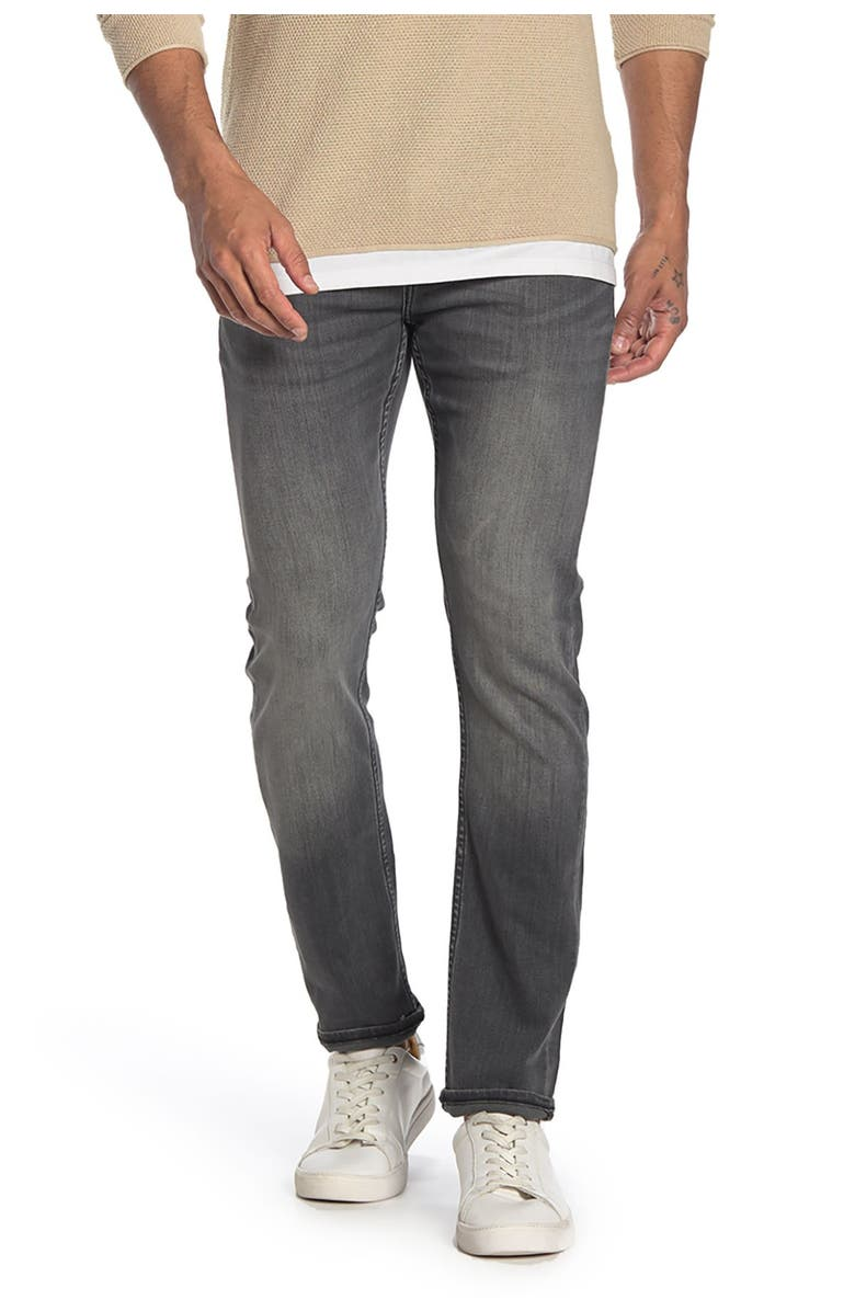 RISING SUN Repreve Skinny Fit Jeans, Main, color, 03G MD WRN GRY