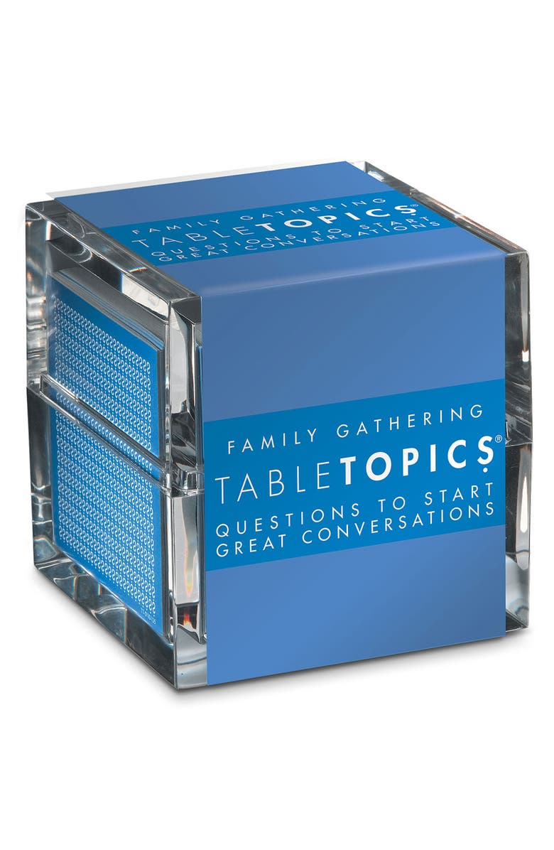 TABLETOPICS 'Family Gathering' Conversation Starters, Main, color, 000