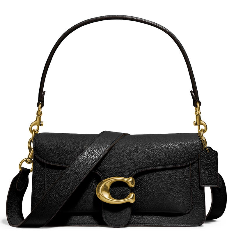 COACH Tabby 26 Leather Crossbody Bag, Main, color, B4/ BLACK