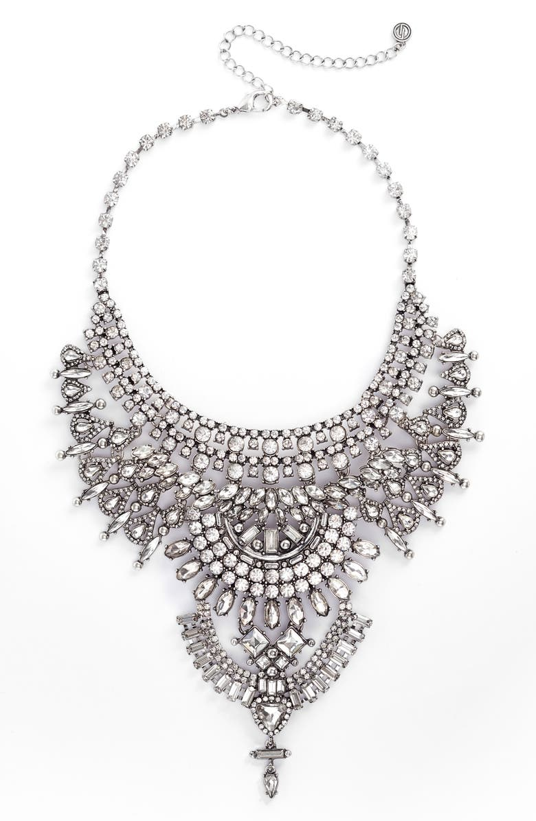 DLNLX BY DYLANLEX Chain & Crystal Necklace, Main, color, 040