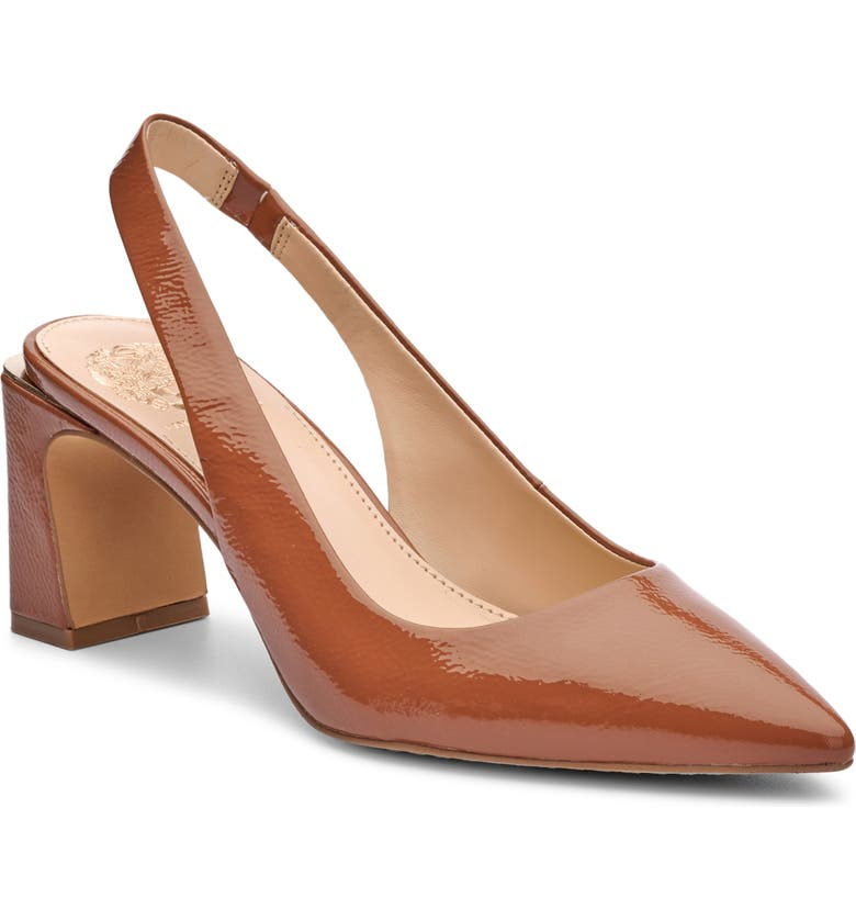 VINCE CAMUTO Hamden Slingback Pointed Toe Pump, Main, color, TAWNY BIRCH NAPLACK