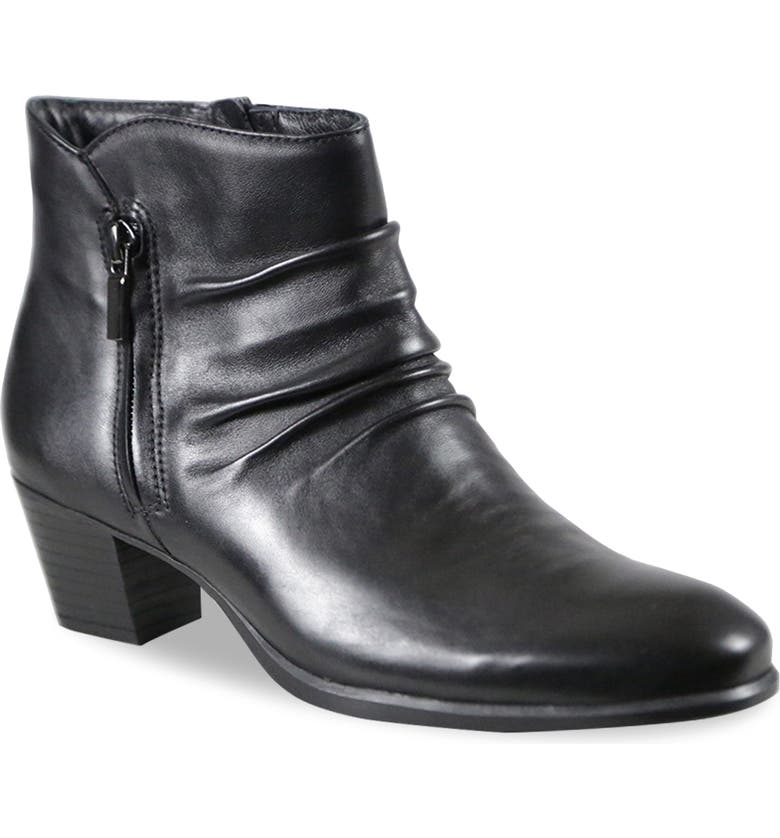 MUNRO Elliot Water Resistant Bootie, Main, color, BLACK LEATHER