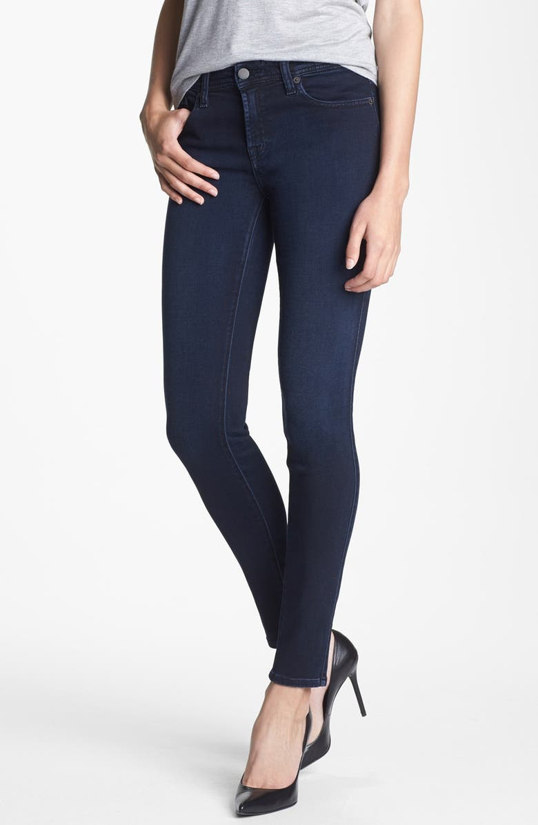 GENETIC 'The Stem' Mid Rise Skinny Jeans, Main, color, POP BLUE